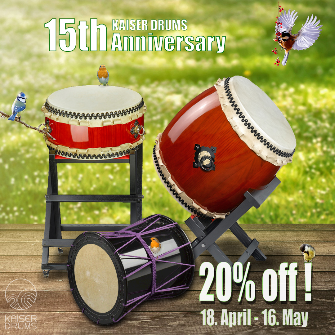 KAISER DRUMS anniversary SALE - 20% off :-)
