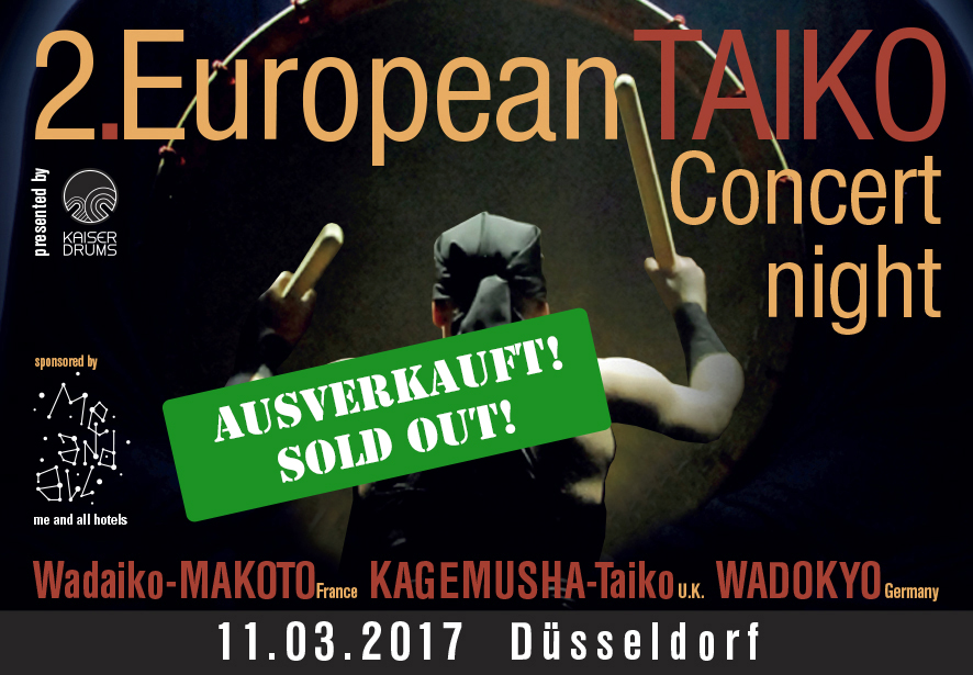 2.  European TAIKO Concert night - presented by KAISER DRUMS