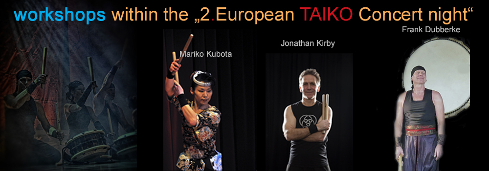taiko workshops within the the 2. European TAIKO Concert night